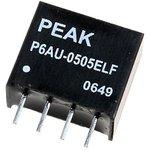 P6AU-0512ELF, DC/DC преобразователь, 1Вт, вход 4.5-5.5В, выход 12В/83мА
