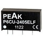 P6CU-1212ELF, DC/DC преобразователь, 1Вт, вход 10.8-13.2В, выход 12В/84мА