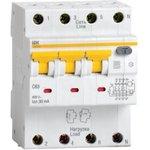 Выключатель автоматический дифференциального тока 4п (3P+N) ...