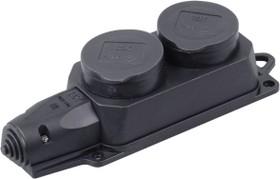 Фото 1/2 РБ32-1-0м Розетка (колодка) двухместная с защитными крышками ОМЕГА IP44