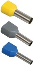 Фото 1/2 Наконечник-гильза НГИ2 2,5-12 с изолированным фланцем (синий) (100 шт) ИЭК