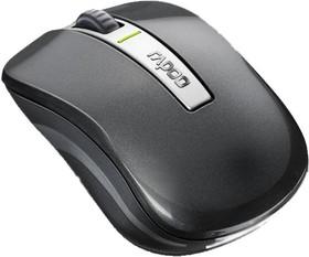 Мышь RAPOO 6610 оптическая беспроводная USB, серый [12074]