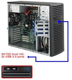Корпус SuperMicro CSE-732I-500B Midi-Tower 500W черный