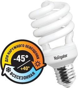 Фото 1/2 NCL-SH10-28- 827-E27/OUTDOOR (94292), Лампа энергосберегающая, 28Вт,2700K,E27 (уличная -40/+40)
