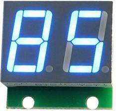 Фото 1/3 SHD0028UB, Двухразрядный светодиодный семисегментный дисплей со сдвиговым регистром, голубой ультра-яркий