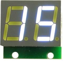 Фото 1/3 SHD0028UW, Двухразрядный светодиодный семисегментный дисплей со сдвиговым регистром, белый ультра-яркий