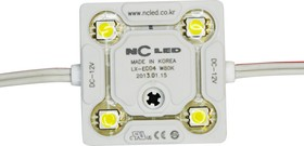Фото 1/2 SMD-модуль 4 диода ECO LG (NC ECO4 NEW) белый
