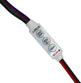 RGB-контроллер MICRO с ручным управлением, с проводом, DC 5-24V, 3х4А