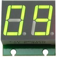 Фото 1/3 SHD0028G, Двухразрядный светодиодный семисегментный дисплей со сдвиговым регистром, зеленый
