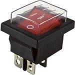 SQ0703-0018, Клавишный переключатель YL-208-01 черный корпус красная клавиша ...