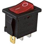 Фото 2/2 YL-211-02, переключатель черный корпус красная клавиша 2 пол.1з SQ0703-0020
