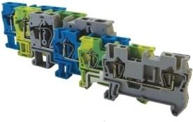 Зажим клеммный безвинтовой (ЗКБ) 1,5 мм2 17,5А серый TDM