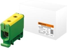 Клемма вводная силовая КВС 6-50 кв.мм. желтая/зеленая TDM