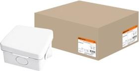 Фото 1/2 Распаячная коробка ОП 65х65х50мм, крышка, IP54, 4вх. инд. штрихкод TDM