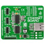 MIKROE-124, Serial Ethernet Board, Дочерняя плата с Ethernet интерфейсом