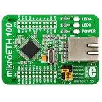 MIKROE-605, mikroETH100 Board, Периферийный модуль с Ethernet контроллером ENC624J600