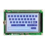 MIKROE-762, SmartGLCD 240x128 Board, Плата с дисплеем на базе PIC18F8722 для разработки графических приложений