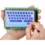 Фото 2/3 MIKROE-762, SmartGLCD 240x128 Board, Плата с дисплеем на базе PIC18F8722 для разработки графических приложений