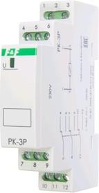 Фото 1/6 PK-3P-230, Реле электромагнитное 230 В, 8 А,3 переключающий1 модуль, монтаж на DIN-рейке