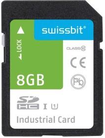 Фото 1/2 SFSD8192L1BM1TO- I-DF-2A1-STD, Карта Flash памяти, SLC, SDHC Карта, UHS-1, Класс 10, 8 ГБ, S-450 Series