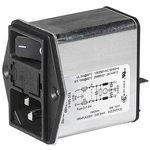 3-102-857, IEC фильтр, 0.1 мкФ, 250 В AC, Стандартный, 6 А ...