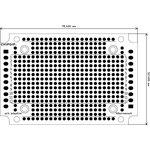 "Фото 2/3 pcb adaptive, Печатная макетная плата 55,6х81,6 для корпуса ""Адаптивный"" ( Шаг 2,54мм)"