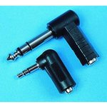 27-7942, Adapter 3.5mm Plug To Socket 90 Degree