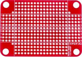 """Фото 1/2 pcb составной, Печатная макетная плата 46х66 для корпуса """"Составной DIN""""( Шаг 2,54мм)"""