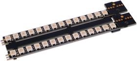 Фото 1/2 Neopixel stick 14x2 ++, Две линейки из 14-ти светодиодов Neopixel с разъемами