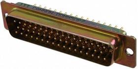 DDMM-50PW A101, Conn D-Subminiature PIN 50 POS 1.4mm Solder RA Thru-Hole 50 Terminal 1 Port