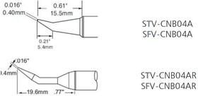 STV-CNB04AR, Наконечник для PS-900 конус изогнутый удлиненный 0.4 х 19.6 мм