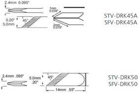 STV-DRK45A, Наконечник для PS-900 ножевидный 5.0 х 15.1 мм