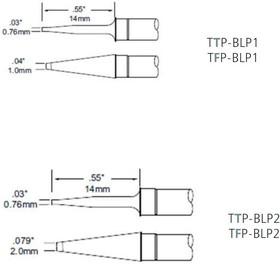 TFP-BLP1, Наконечник для термопинцета MFR-H4 1.0 х 14 мм