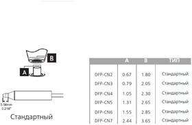 Фото 1/2 DFP-CN4, Наконечники для вакуумного паяльника MFR-H5-DS стандартный 1.05 х 2.30 мм