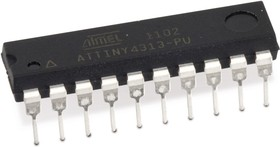 ATTINY4313-PU, Микроконтроллер 8-Бит, AVR, 20МГц, 4КБ Flash [DIP20]
