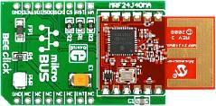 MIKROE-987, BEE click, Плата расширения с установленным модулем MRF24J40MA