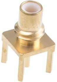 R112426000, Conn SMC RCP 0Hz to 10GHz 50Ohm Solder ST Thru-Hole Gold Over Nickel