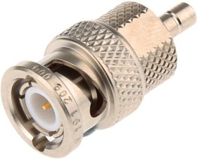 R191209000, Conn SMB-BNC Adapter M/M 0Hz to 4GHz 50Ohm ST Gold Over Nickel