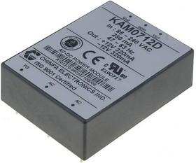 KAM0712D, AC/DC преобразователь, 12В,0.320А;-12В, -0.320А;7.6Вт