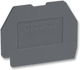 Фото 1/2 3100321, Торцевая крышка, для использования с модульными клеммными колодками, серого цвета, D-MT