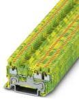 3208171, Conn Ground Modular Terminal Block 3 POS G DIN Rail/T DIN Rail