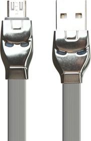 Фото 1/2 USB кабель HOCO U14 Steel Man Micro Charging Cable (L=1M) (серый)