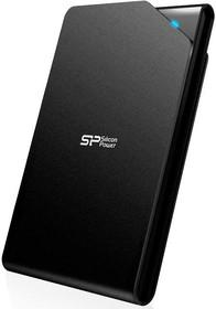 Внешний жесткий диск SILICON POWER Stream SP500GBPHDS03S3K, 500Гб, черный
