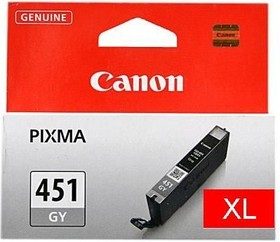 Картридж CANON CLI-451XLGY 6476B001, серый [6476b001 ]