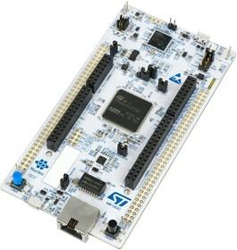 Фото 1/2 NUCLEO-H745ZI-Q, Отладочная плата на базе MCU STM32H745ZIT6U (ARM Cortex-M7), STLINK-V3E, Arduino, Ethernet