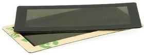 FFS45x25B-37x17M, Лицевая панель плёночная черная 45х25 мм, тонированное окно 37х17 мм
