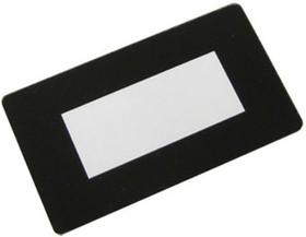 FS60x34B-38x16, Лицевая панель черная - 60х34 мм, прозрачное окно 38х16 мм