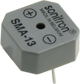 Фото 1/2 SMA-13-P10, 13 мм, Пьезоизлучатель с генератором
