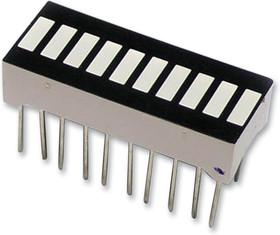 703-0189, Светодиодная гистограмма, Желтый, 20 мА, 2.1 В, 2.8 мкд, 10 светодиод(-ов), 25.27мм x 10.16мм