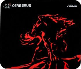 Фото 1/4 ASUS Cerberus Mini чёрный/красный Игровой коврик для мыши (250 x 210 x 2 mm, каучук, нетканый материал, cиликон, 90YH01C3-BDUA00)